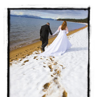 Bride, Groom, Tahoe, Snow, Wedding photography by iqphoto