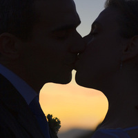 Kiss, Sunset, Heart, Wedding photography by iqphoto