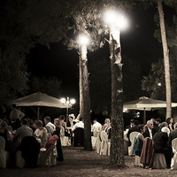 Reception, Flowers & Decor, Lights, Night, Wedding photography by iqphoto