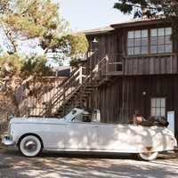 white, green, Rustic, Wedding, Car, And