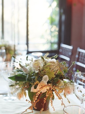 white, green, Rustic, Centerpiece, Wedding, And, Wildflowers