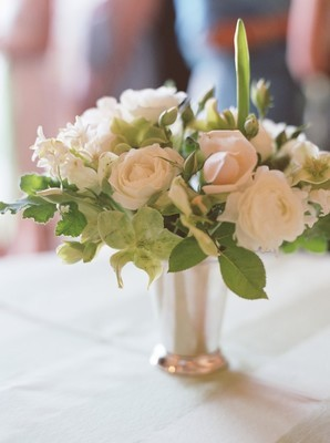 white, green, Rustic, Centerpiece, Wedding, And, Cream