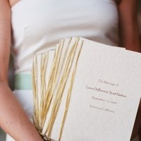 Stationery, white, green, Rustic, Ceremony Programs, Programs, Wedding, And, Cream