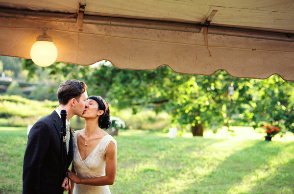 DIY, Vintage, Wedding, Kiss, Tent, York, New