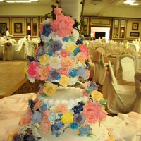 Cakes, yellow, orange, pink, purple, blue, green, cake, Wedding, inc, Weddings by stephanie