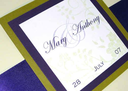 Flowers & Decor, Stationery, purple, green, Garden, Invitations, Wedding, Custom, Floral, Elegant, Design, Chicago, Lindsey ryan design, Regal