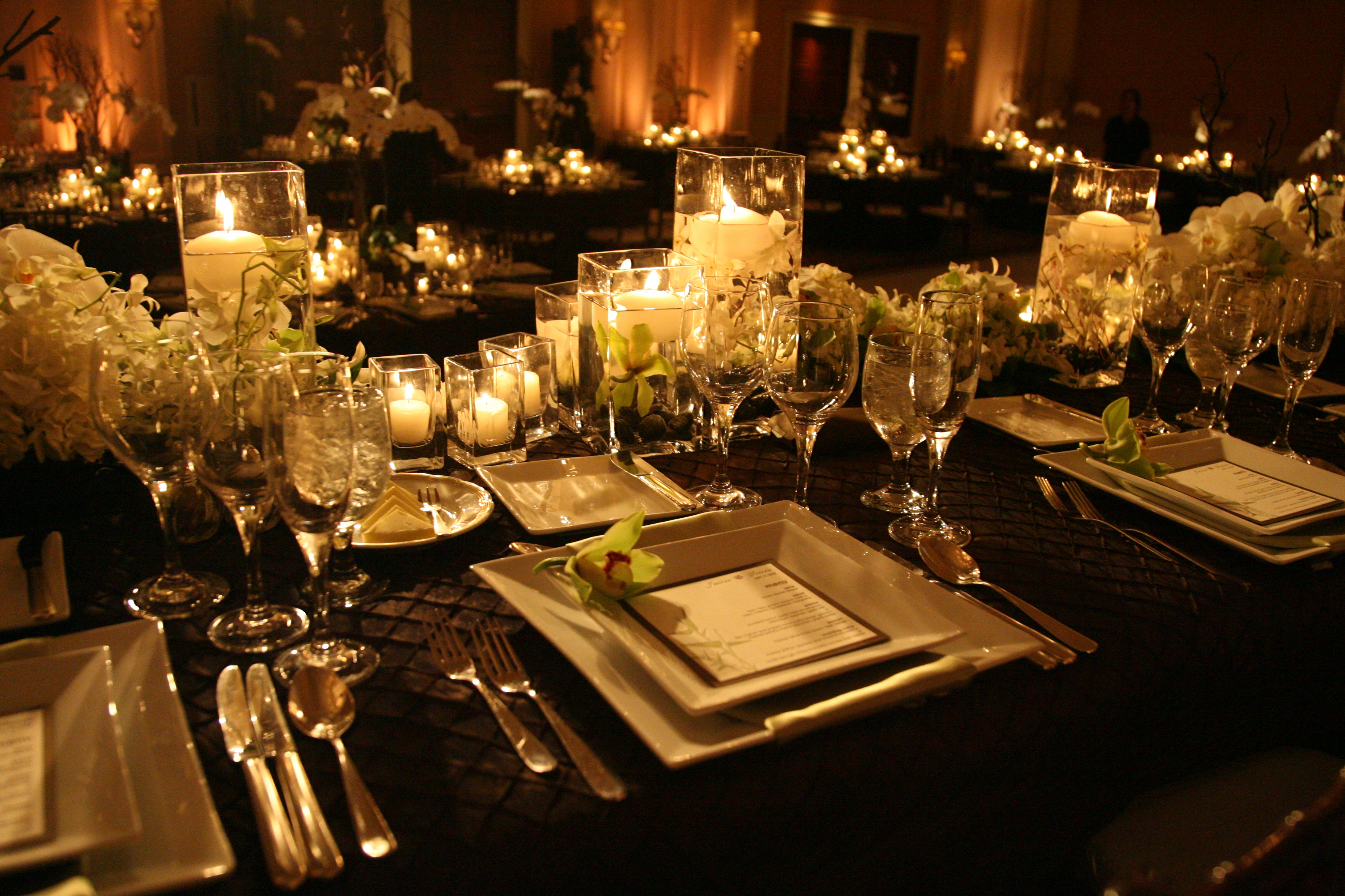 Reception, Flowers & Decor, Orchid, Wedding, Asian, Dinnerware, Settings