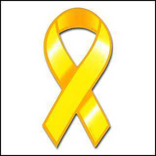 yellow, Ribbon, Support our troops