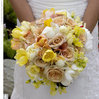 Flowers & Decor, white, yellow, Bride Bouquets, Flowers, Bouquet, Tan