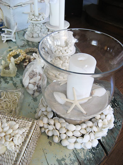 Beach, Centerpiece, Shells, Starfish