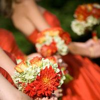 Flowers & Decor, orange, red, Bride Bouquets, Flowers, Bouquet, Brea mcdonald photography