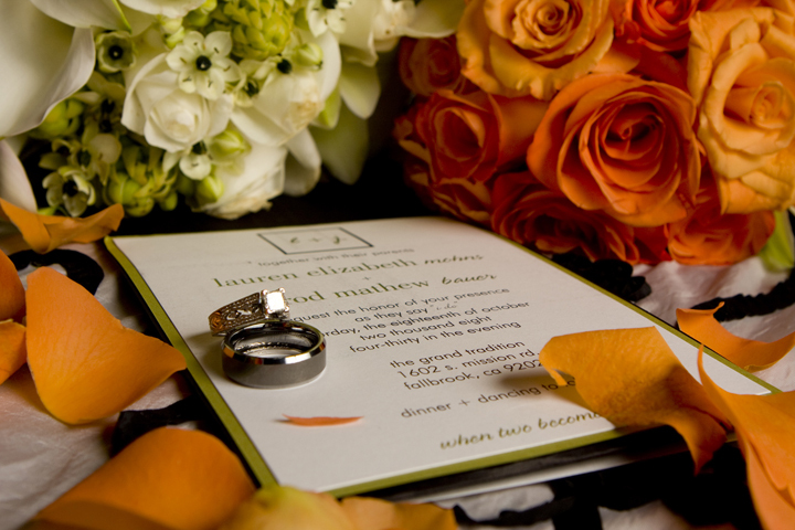 Reception, Flowers & Decor, Stationery, orange, green, Invitations