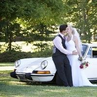 Bride, Groom, Car, Park, Kissing, Levente photography