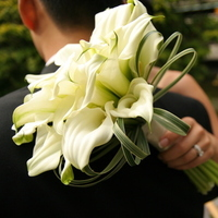 Flowers & Decor, white, Bride Bouquets, Flowers, Bouquet, Calla, Lilies, Bridal, Grass, Elegant, Love in bloom, Mini, Simple, Bear