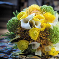 white, yellow, green, Bouquet, Grandiflora