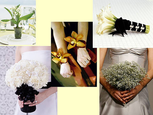 white, Bouquet, Calla lily, Orchid, Corsage, Babys breath