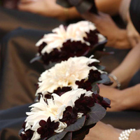 Flowers & Decor, pink, brown, Bride Bouquets, Flowers, Bouquet, Brides, Chocolate, Maids, Cosmos, Dahlia