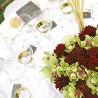 Flowers & Decor, burgundy, green, Centerpieces, Flowers, Centerpiece, Cymbidium, Dahlias