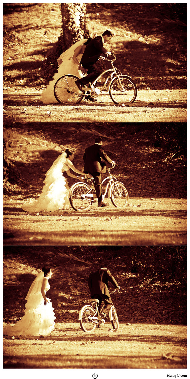Wedding Dresses, Fashion, dress, After, The, Trash, Day, Ttd, Session, Bicycle, Henry chan photography, Collage