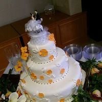 Cakes, orange, cake, Wedding, Poppies, Jessica, John, Its a piece of cake