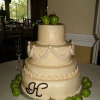Cakes, ivory, green, cake, Wedding, Elegant, Apples, Chic, Tier, Its a piece of cake, Four