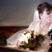 Flowers & Decor, Bride Bouquets, Bride, Flowers, Groom, Kiss, Church, Photographer