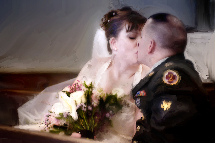 Flowers & Decor, Bride Bouquets, Bride, Flowers, Groom, Kiss, Church, Photographer