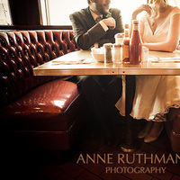 Vintage, Bride, Groom, Portrait, Anne ruthmann photography, Diner, Nostalgic