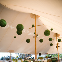 Reception, Flowers & Decor, green, Centerpieces, Flowers, Centerpiece, Orchids, Tent, Soiree floral