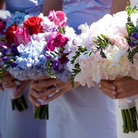 Flowers & Decor, white, red, purple, Bride Bouquets, Bridesmaid Bouquets, Bride, Flowers, Bridesmaid, Bouquets, Lavender, Soiree floral