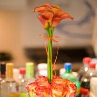 Flowers & Decor, Centerpieces, Flowers, Roses, Centerpiece, Callas