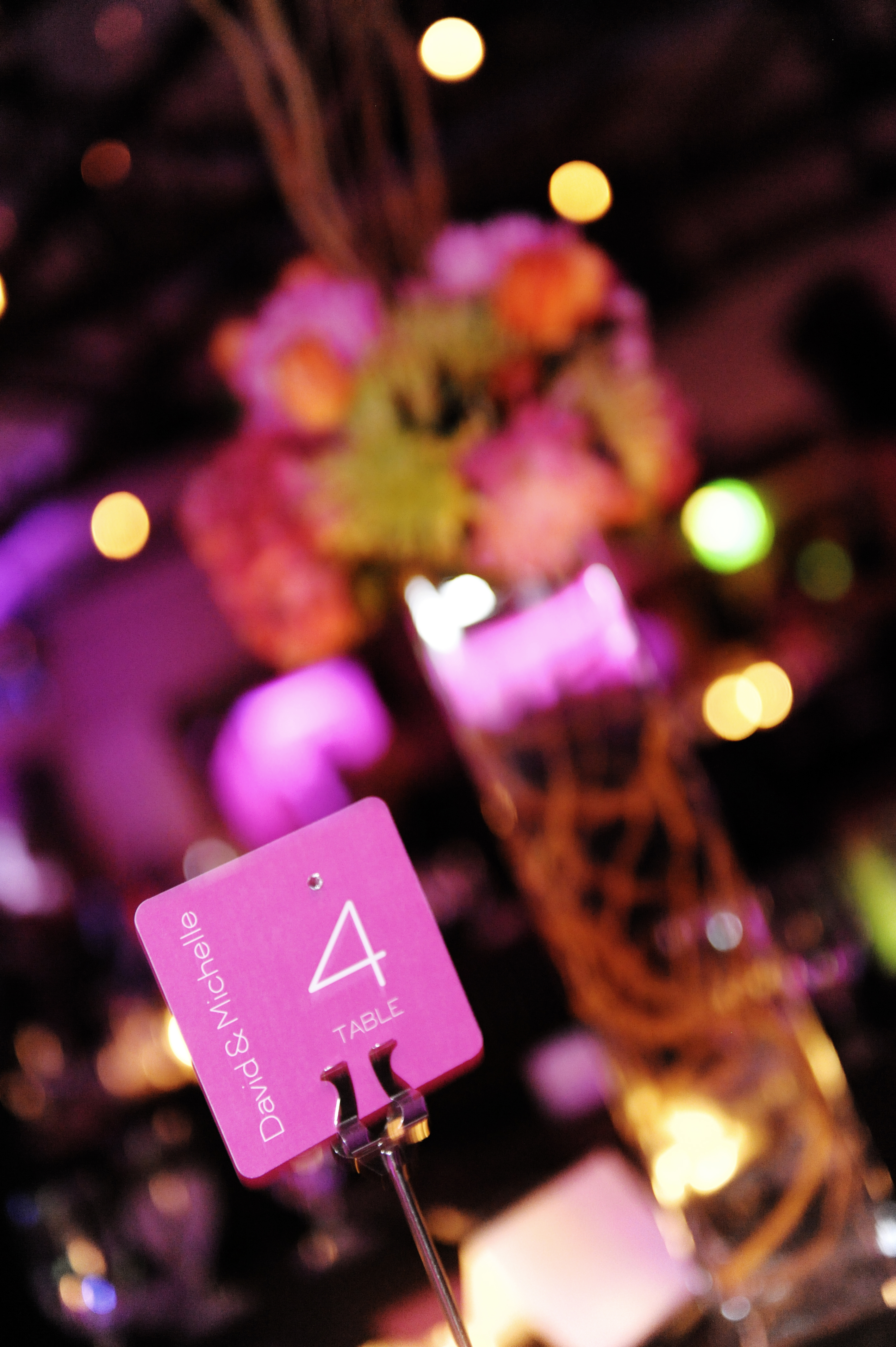 Flowers & Decor, Stationery, orange, pink, Centerpieces, Table Numbers, Flowers, Table number