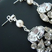 Jewelry, Earrings, And, Rhinestone, Pearl