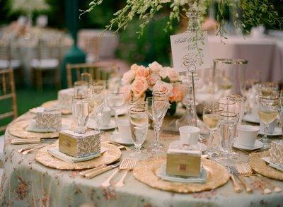 Reception, Flowers & Decor, pink, gold, Garden, Flowers, Garden Wedding Flowers & Decor, Decorations