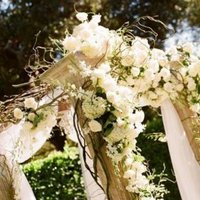 Ceremony, Flowers & Decor, white, green, Ceremony Flowers, Flowers, Decorations, Altar