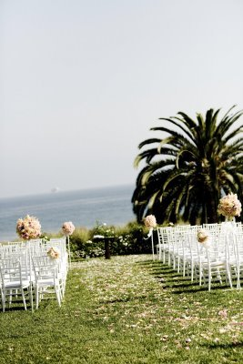 Ceremony, Flowers & Decor, pink, green, Beach, Ceremony Flowers, Flowers, Beach Wedding Flowers & Decor, Decorations
