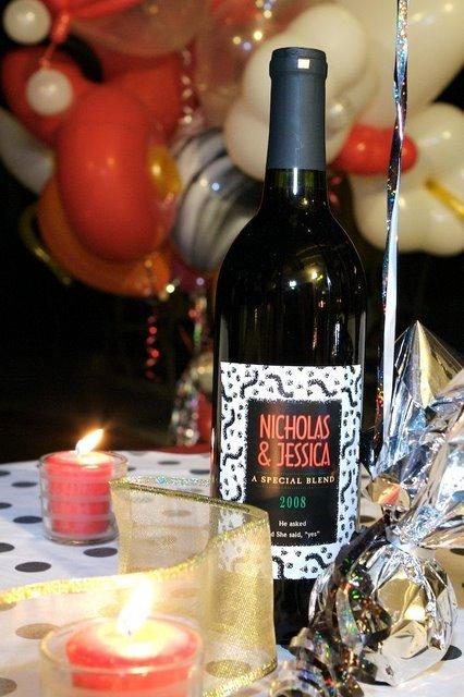 Flowers & Decor, Decor, Favors & Gifts, favor, Centerpiece, Party, Engagement, Personalized, Wine, Labels, Bottles