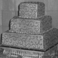 Cakes, cake, Square Wedding Cakes, Square, Chocolate, llc, Megan kocher wedding and event design