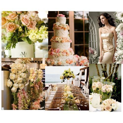 pink, green, gold, Inspiration board