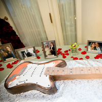 Reception, Flowers & Decor, Grooms cake, Guitar, Laura davis events