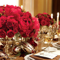 Reception, Flowers & Decor, red, Flowers