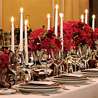 red, Glam Wedding Flowers & Decor, Winter Wedding Flowers & Decor