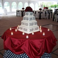 Reception, Flowers & Decor, Decor, Cakes, white, red, black, cake, Flowers, Polka dot