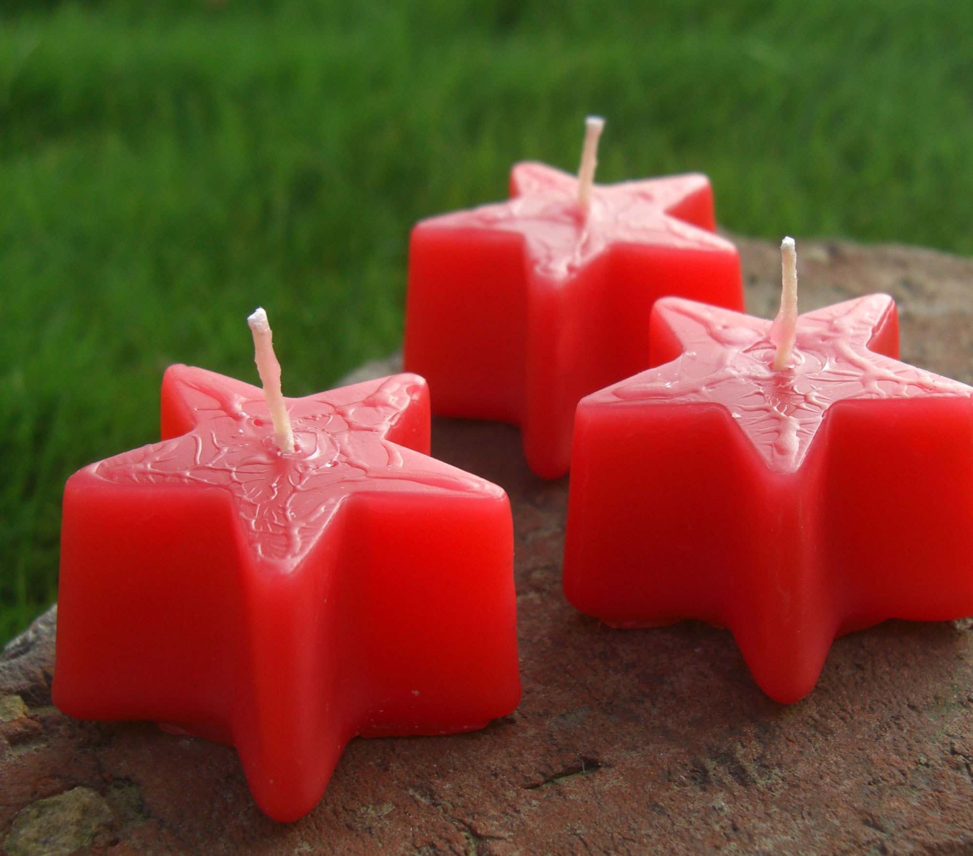 Favors & Gifts, red, Favors, Wedding, Custom, Favorite, Ribbons, Stars, Frosted, Netting, Scented, Matte, Kokocandles, Cello