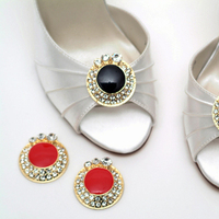 Flowers & Decor, Wedding Dresses, Shoes, Fashion, red, black, silver, gold, dress, Accessories, Flower, Bridal shoes, Designer, Attire, Rhinestones, Absolutely audrey, Footwear, Stilettos, Shoe clips, Bridesmaids shoes, Enamel
