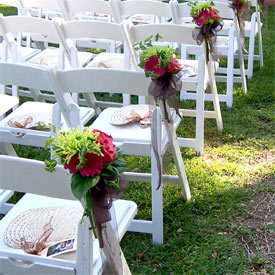 Roses, Aisle, Markers, Sashes