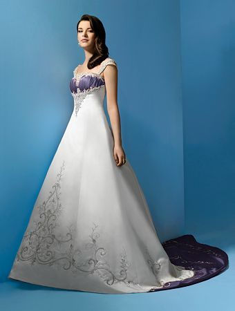ivory, purple, Gown, Wedding, Pretty