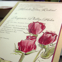 Stationery, Invitations, Rose, Watercolor, Momental designs