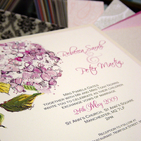 Stationery, pink, invitation, Invitations, Wedding, Hydrangea, Momental designs