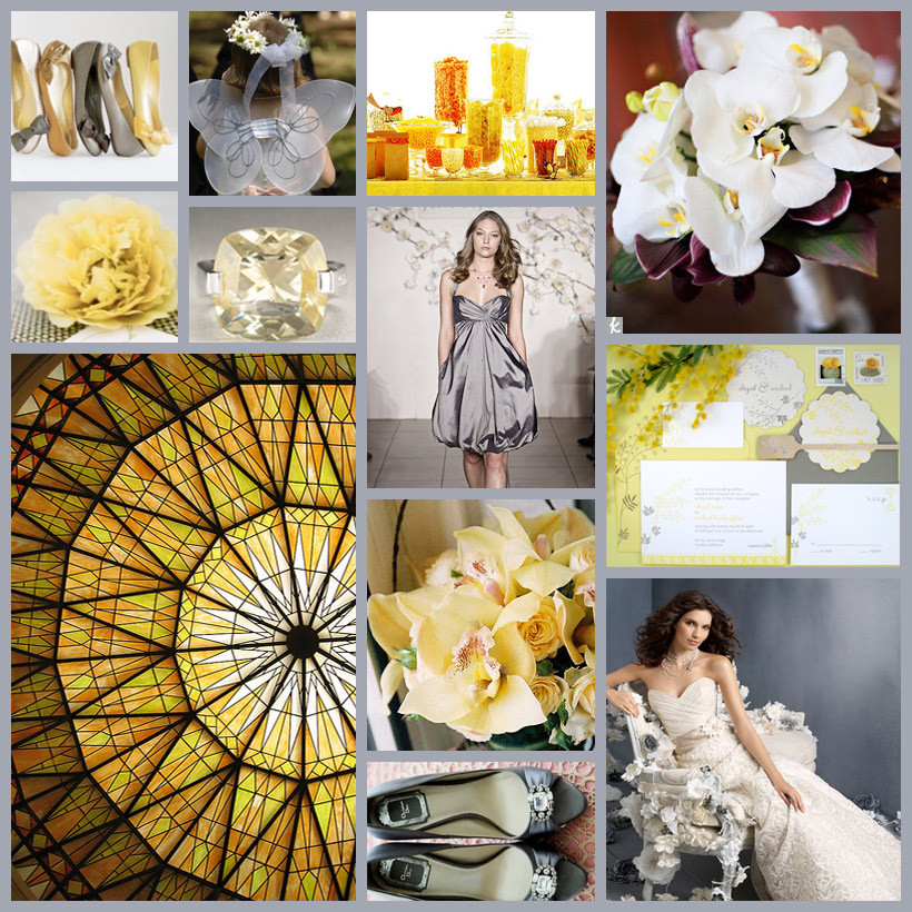 yellow, silver, gold, Grey, Inspiration board
